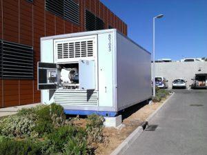 Chambre froide SB12 vue du groupe frigo