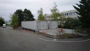 Deux chambres froides SB44 posées sur plots béton