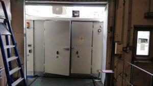 Chambre froide SB16 à quai